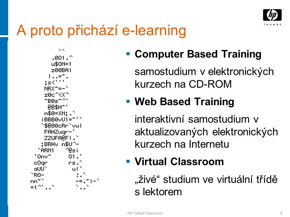 HP Virtual Classroom7 HP Virtual Classroom – popis hp