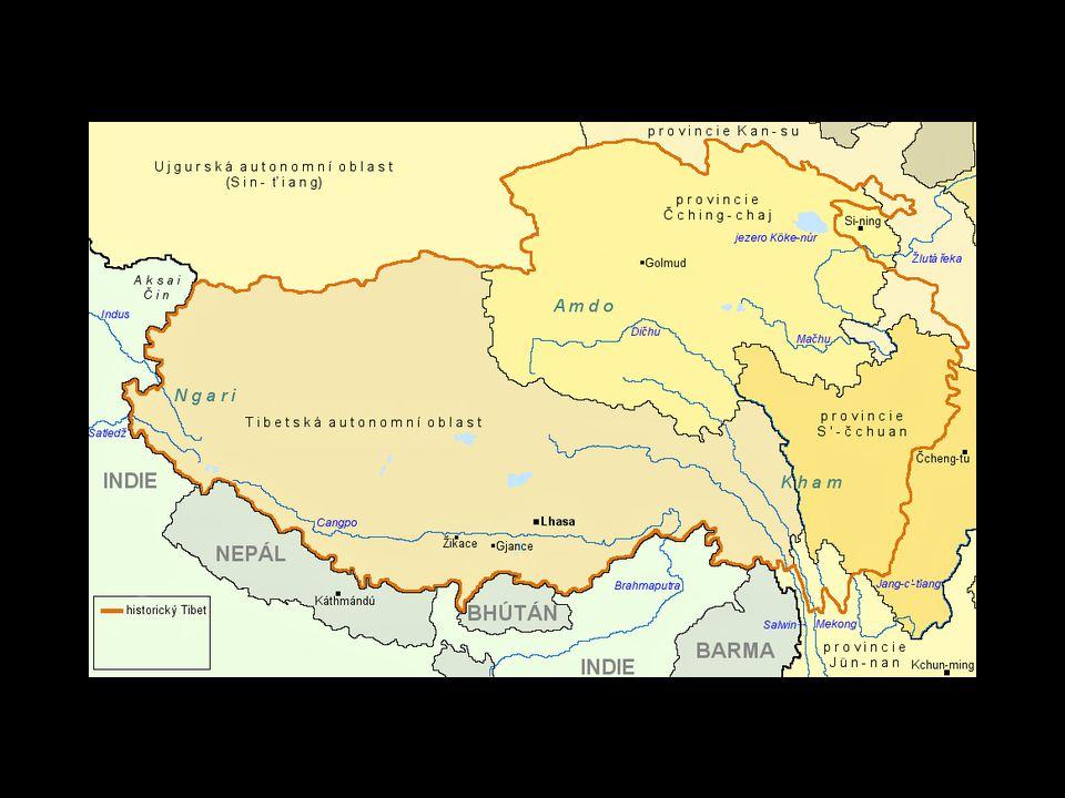Území TAO Je 2.největší provincií ČLR. Je nejřidčeji osídlenou oblastí Země.