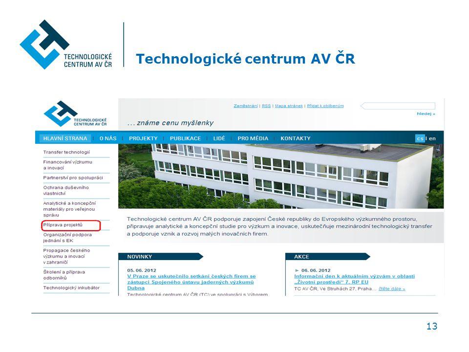 13 Technologické centrum AV ČR