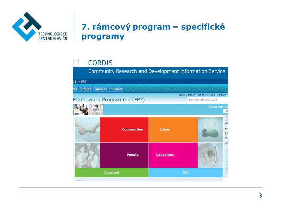 7. rámcový program – specifické programy 3