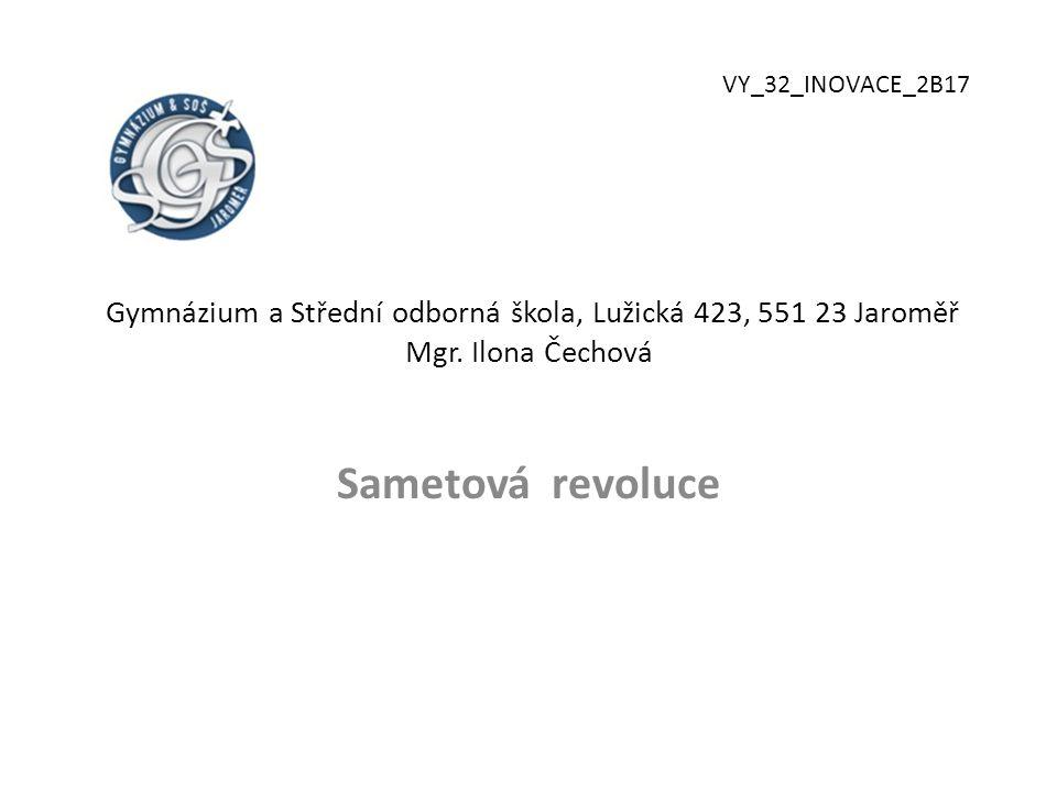 Gymnázium a Střední odborná škola, Lužická 423, 551 23 Jaroměř Mgr.