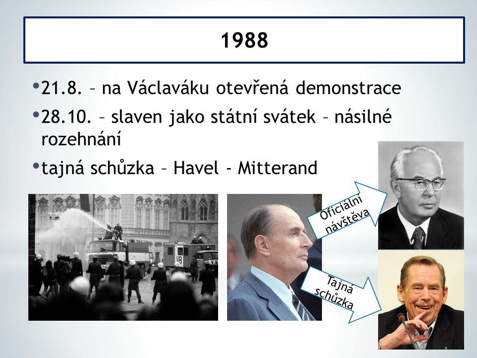 21.8. – na Václaváku otevřená demonstrace 28.10.