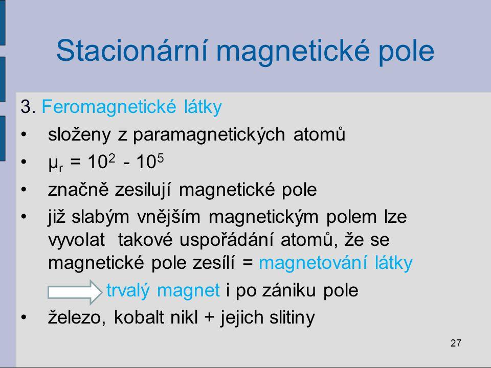 Stacionární magnetické pole 3.