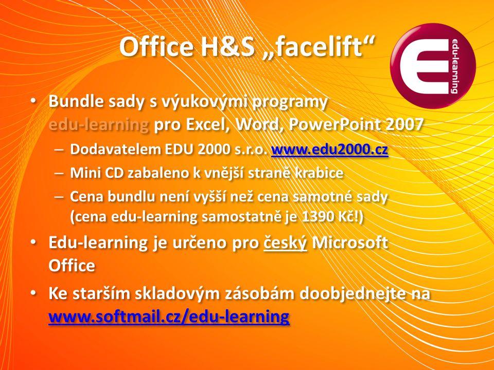 """Office H&S """"facelift"""" Bundle sady s výukovými programy edu-learning pro Excel, Word, PowerPoint 2007 – Dodavatelem EDU 2000 s.r.o. www.edu2000.czwww.e"""
