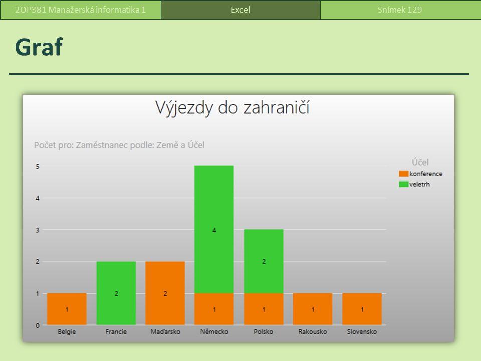 Graf ExcelSnímek 1292OP381 Manažerská informatika 1