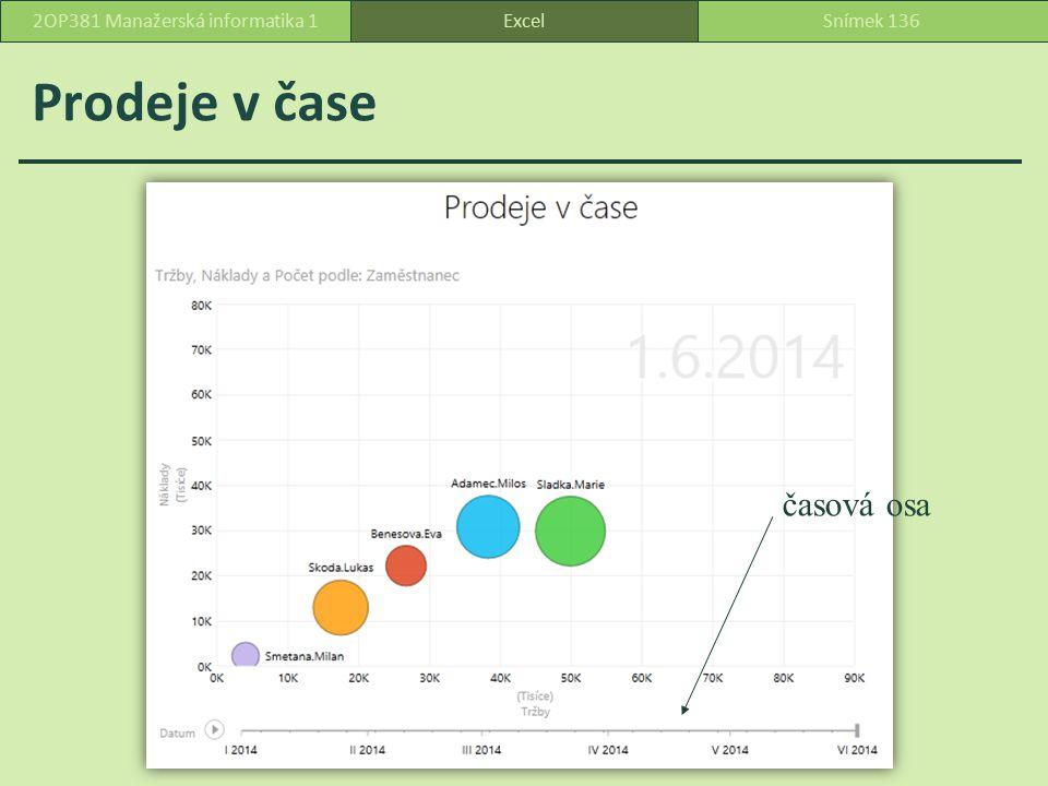 Čára cest pro Adamce – klepnutím označíme bublinu konkrétního pracovníka ExcelSnímek 1372OP381 Manažerská informatika 1