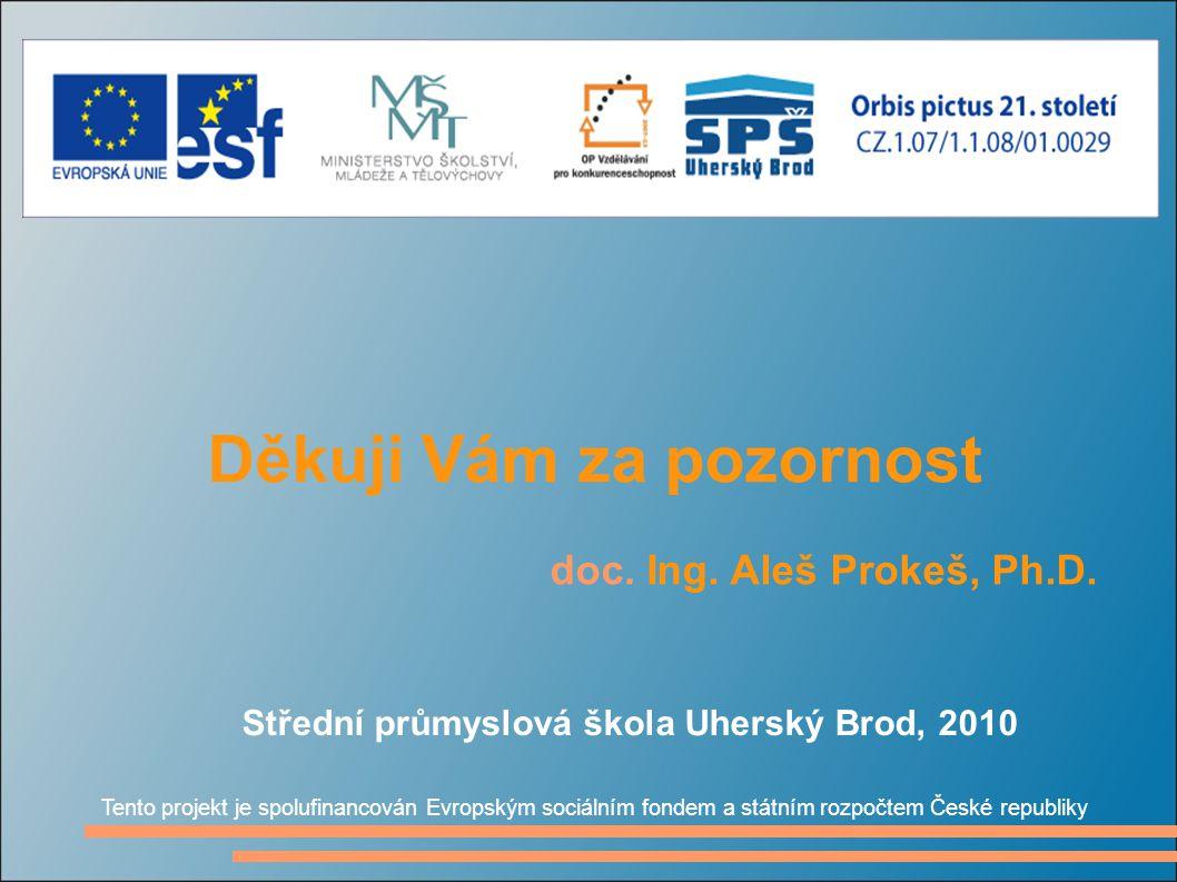 Děkuji Vám za pozornost doc. Ing. Aleš Prokeš, Ph.D.