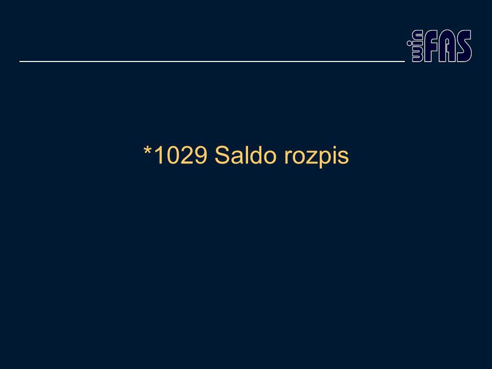 *1029 Saldo rozpis