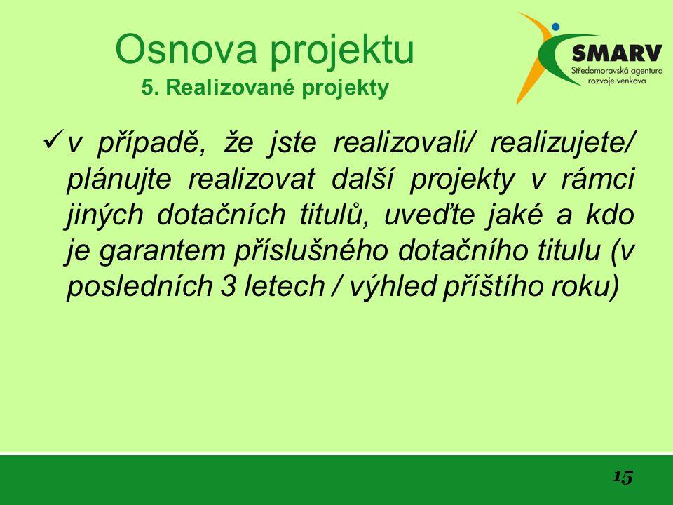 15 Osnova projektu 5.
