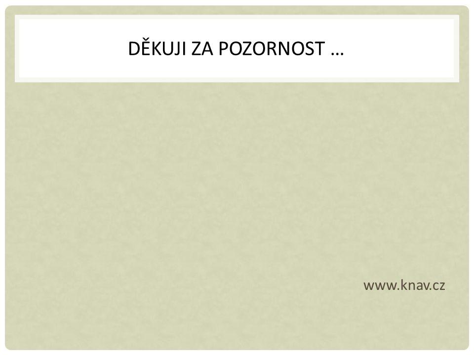 DĚKUJI ZA POZORNOST … www.knav.cz