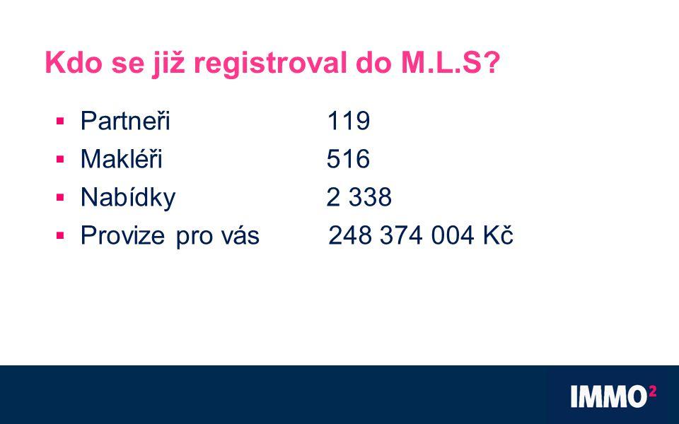 Kdo se již registroval do M.L.S.