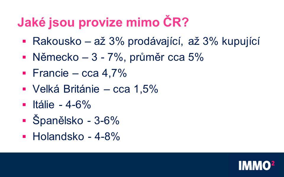 Jaké jsou provize mimo ČR.