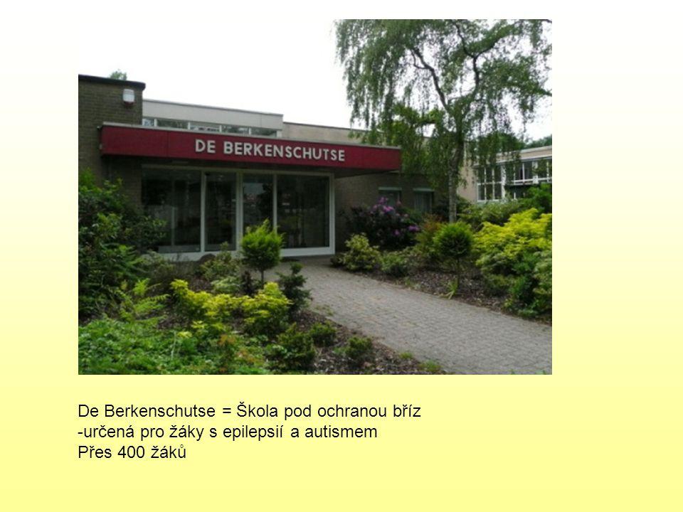 De Berkenschutse = Škola pod ochranou bříz -určená pro žáky s epilepsií a autismem Přes 400 žáků