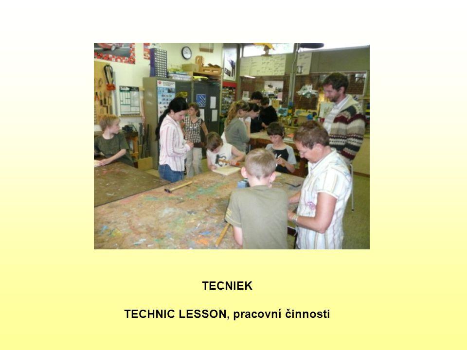 TECNIEK TECHNIC LESSON, pracovní činnosti