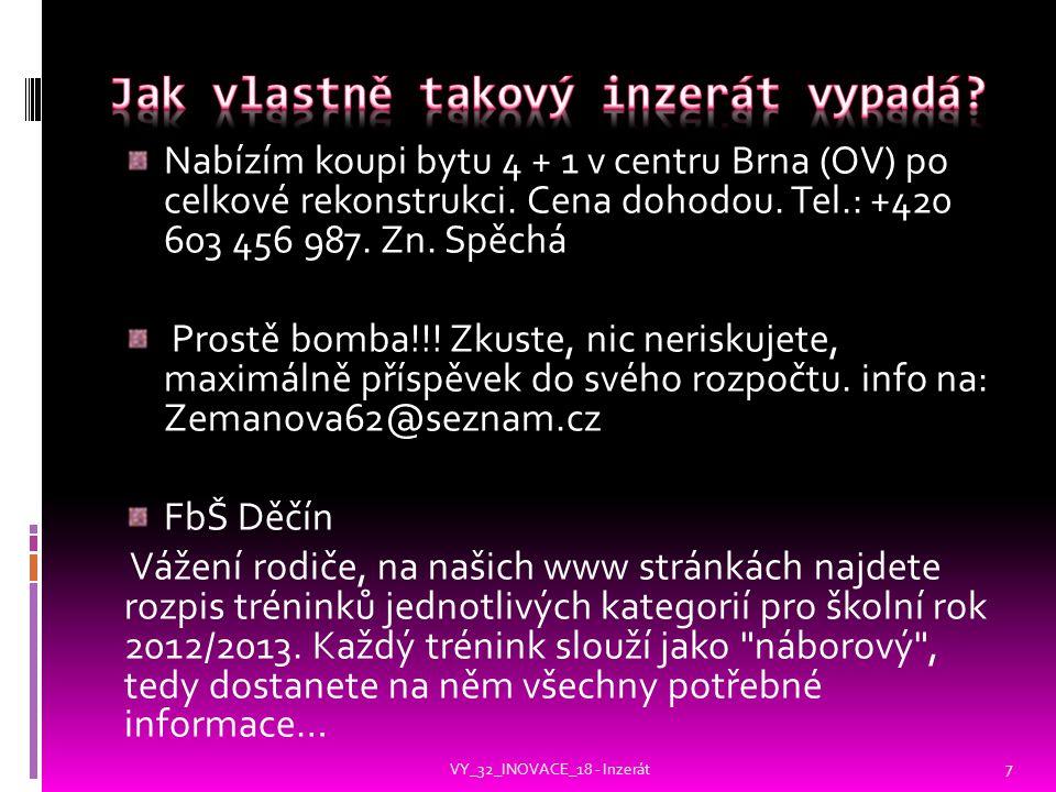 Nabízím koupi bytu 4 + 1 v centru Brna (OV) po celkové rekonstrukci.