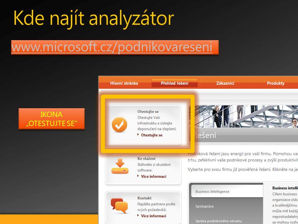 """www.microsoft.cz/podnikovareseni IKONA """"OTESTUJTE SE IKONA """"OTESTUJTE SE"""