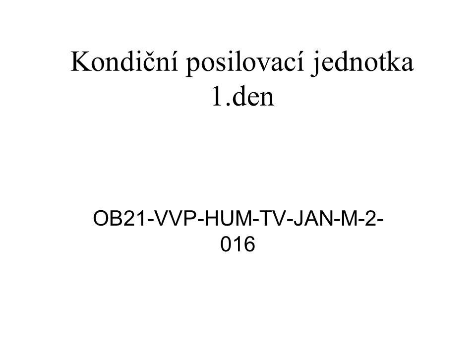 Kondiční posilovací jednotka 1.den OB21-VVP-HUM-TV-JAN-M-2- 016