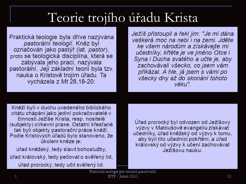 1 Praktická teologie pro sociální pracovníky.