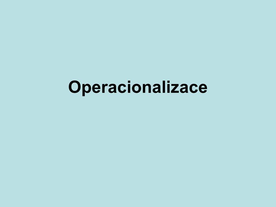 Operacionalizace