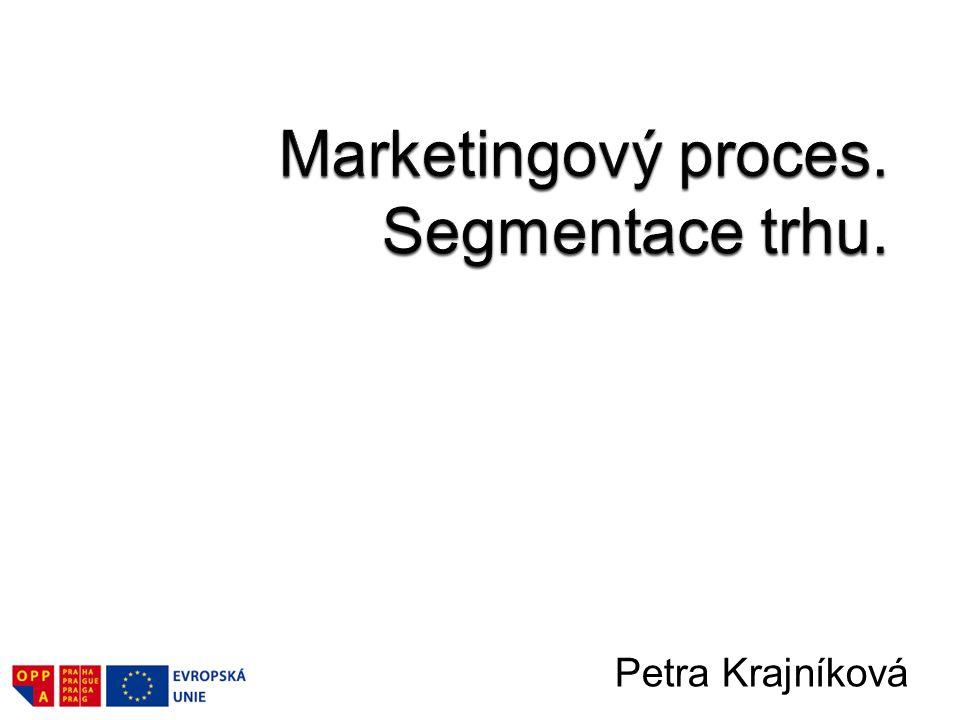 Marketingový proces.–Složky marketingového procesu.