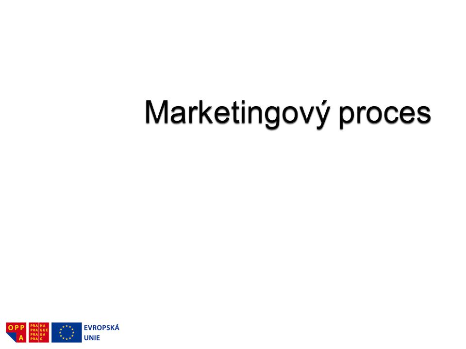 Marketingový proces zahrnuje několik činností, které vedou k úspěšnému prodeji výrobku či služby správnému klientovi, prostřednictvím vhodného distribučního kanálu.