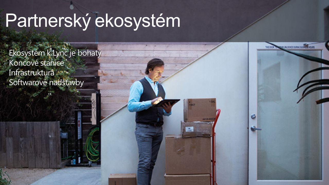 Partnerský ekosystém Ekosystém k Lync je bohatý Koncové stanice Infrastruktura Softwarové nadstavby