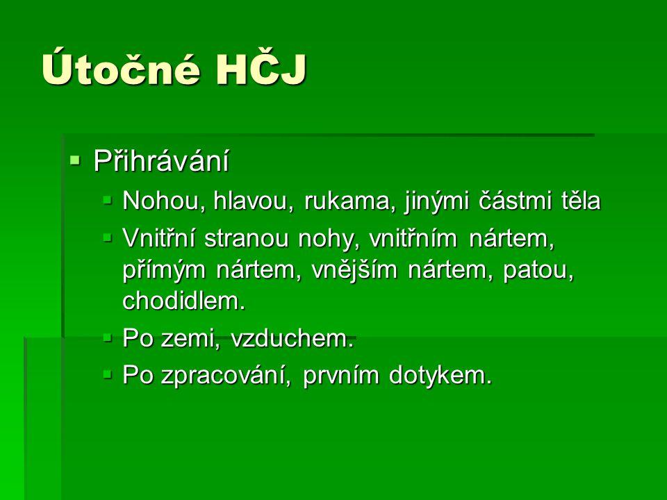 HS obranné  Zónová obrana  Každý hráč obsazuje určitý prostor.