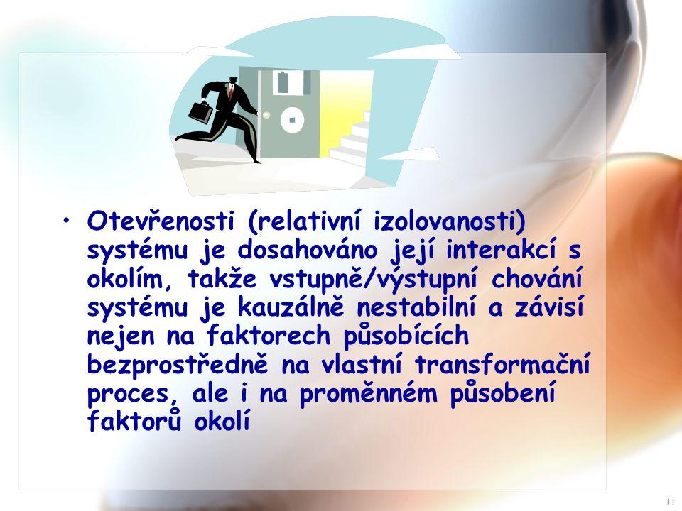 10 Organizace naplňuje své cíle nabídkou produktu (zboží a služeb), představujících výstup z určitého vnitřního transformačního procesu na jehož provádění se spolupodílejí všechny její disponibilní vnitřní zdroje: energetické (E I ), hmotné (materiální) (H I ), informační (I I ) a personální (P).