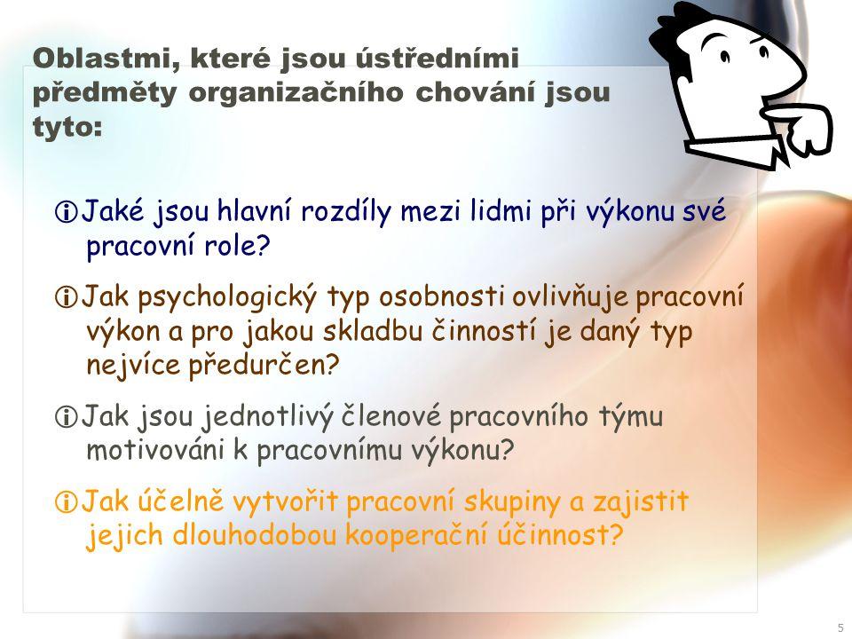 4 Účelem studia organizačního chování, ale není dokazovat, že intuice je něčím zastaralým.