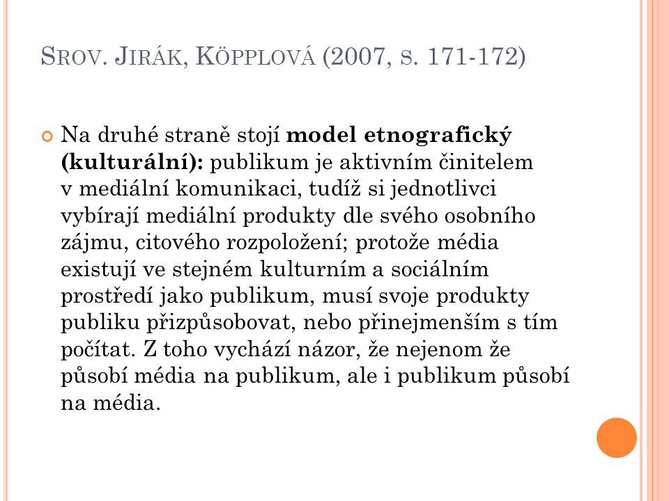 S ROV.J IRÁK, K ÖPPLOVÁ (2007, S.
