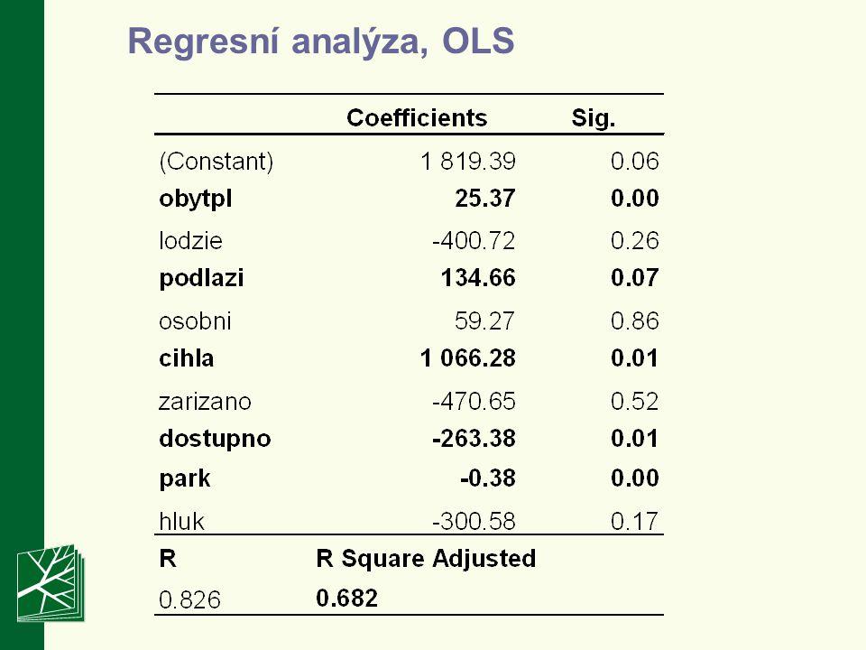 – Většina modelu jsou semi-log (i.e.závislé jako logaritmu, nez.