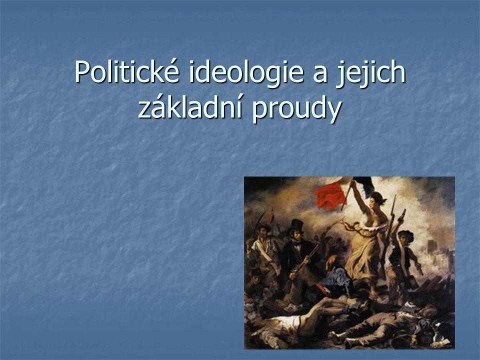 Politické ideologie a jejich základní proudy
