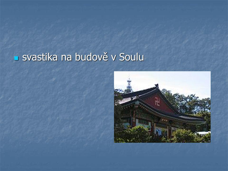 svastika na budově v Soulu svastika na budově v Soulu