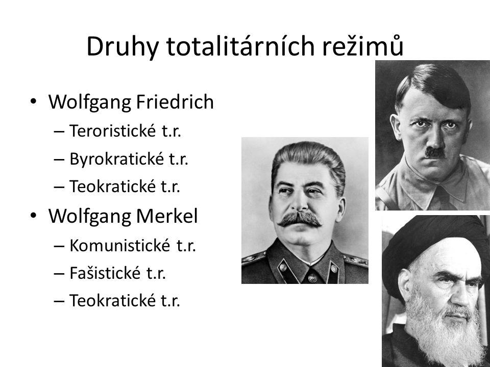 Druhy totalitárních režimů Wolfgang Friedrich – Teroristické t.r.