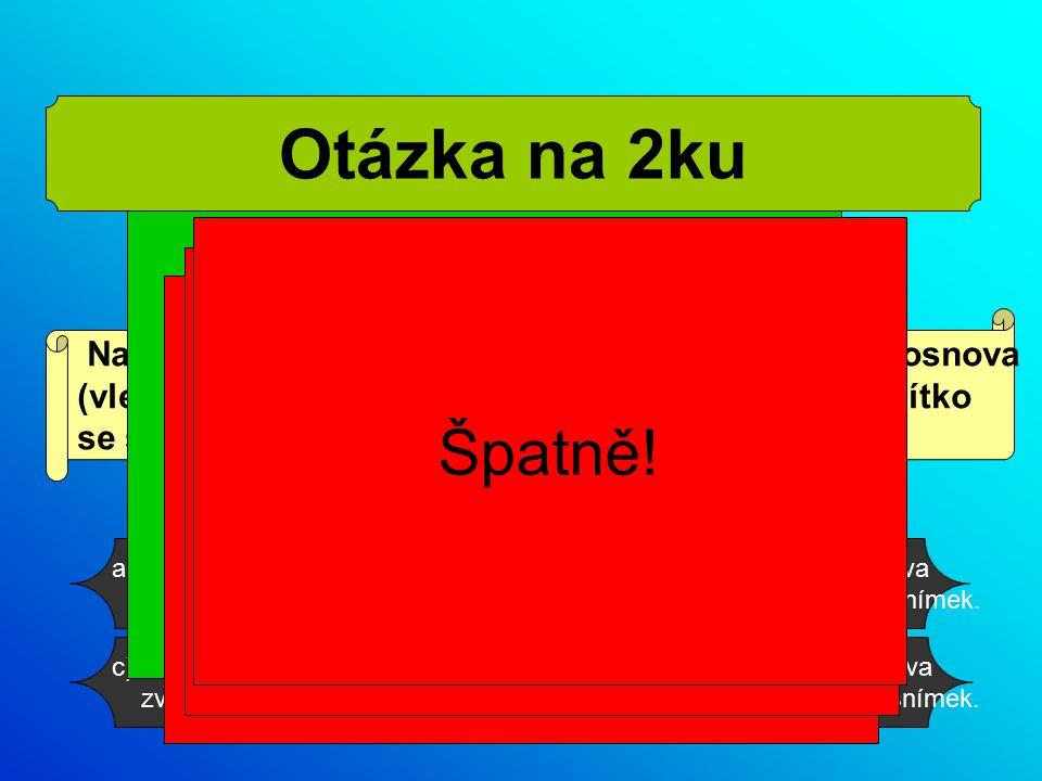 Na každém slidu jsou znázorněna tlačítka panelu osnova (vlevo vpravo šipky).