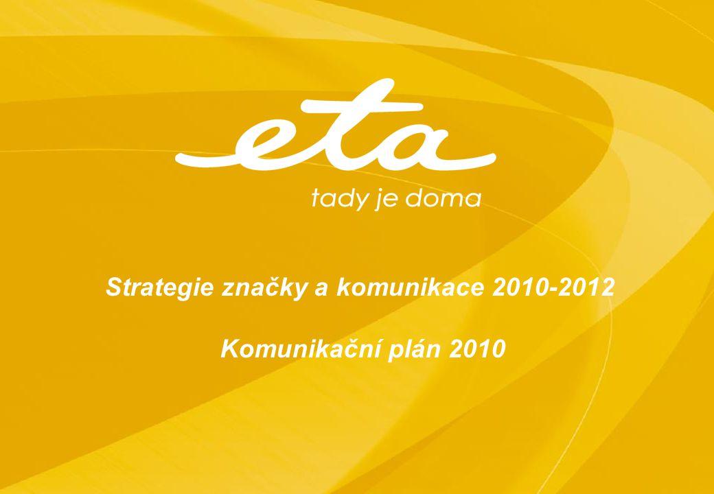 Strategie značky a komunikace 2010-2012 Komunikační plán 2010