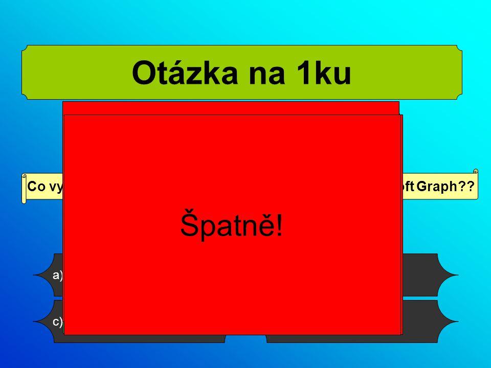 d) obrázekc) organizační schéma b) grafa) tabulku Co vytvoříte na snímku, pokud použijete program Microsoft Graph .