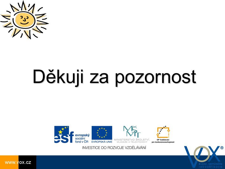 Děkuji za pozornost www.vox.cz