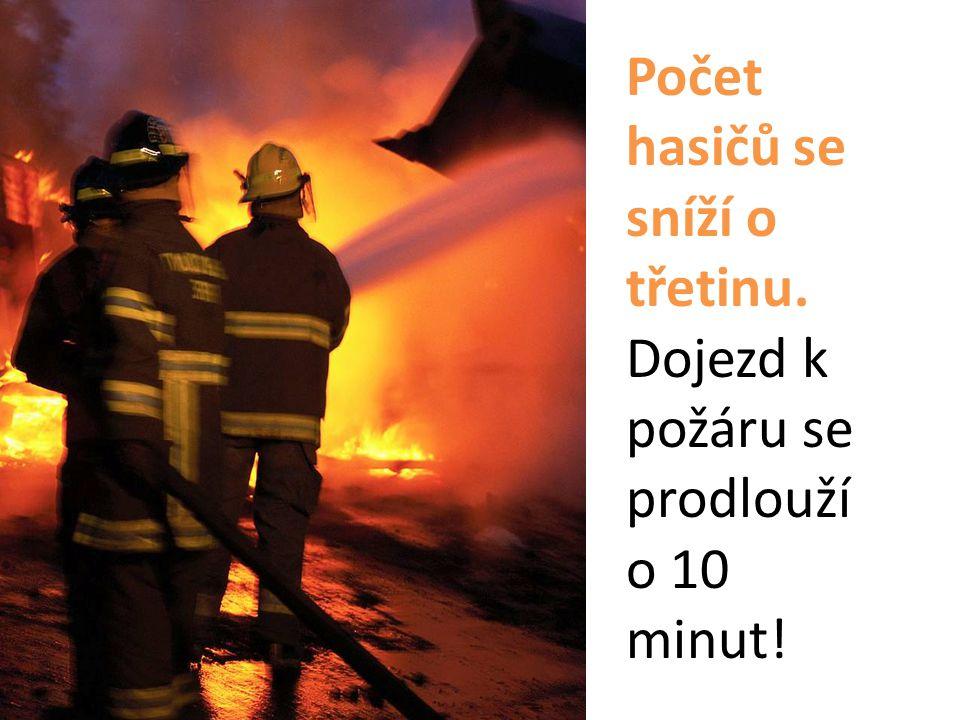Počet hasičů se sníží o třetinu. Dojezd k požáru se prodlouží o 10 minut!