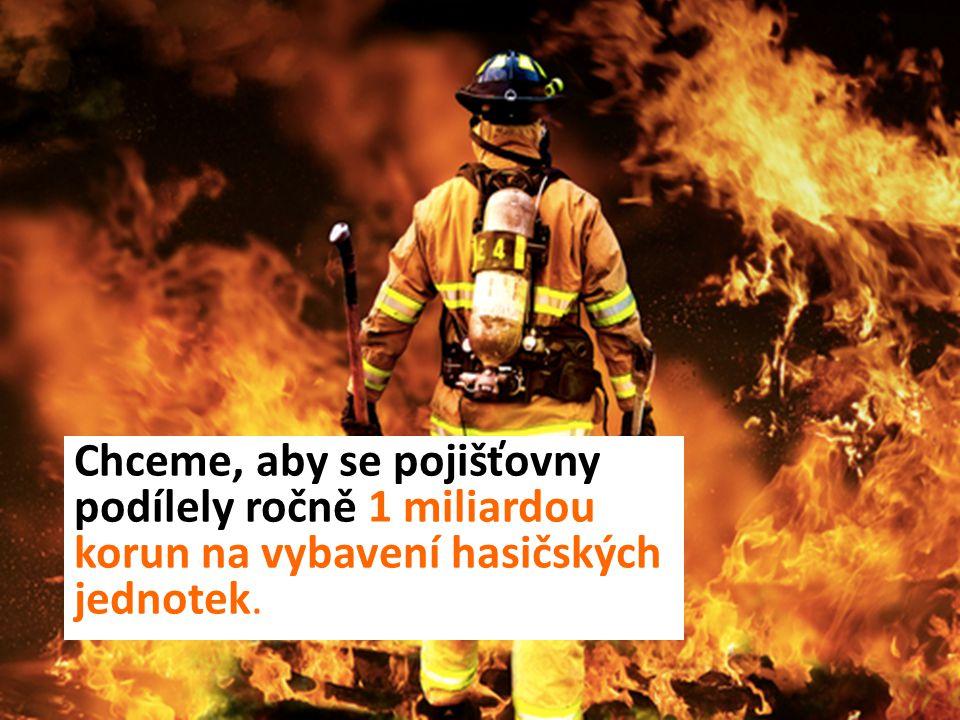 Chceme, aby se pojišťovny podílely ročně 1 miliardou korun na vybavení hasičských jednotek.