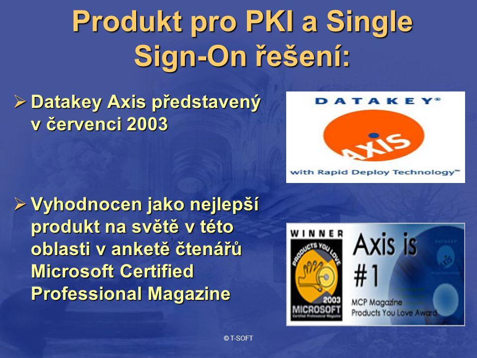 © T-SOFT Datakey Axis  Single Sign-On řešení, které zjednodušuje a chrání přístup pomocí čipové karty do systémů, sítí a aplikací.