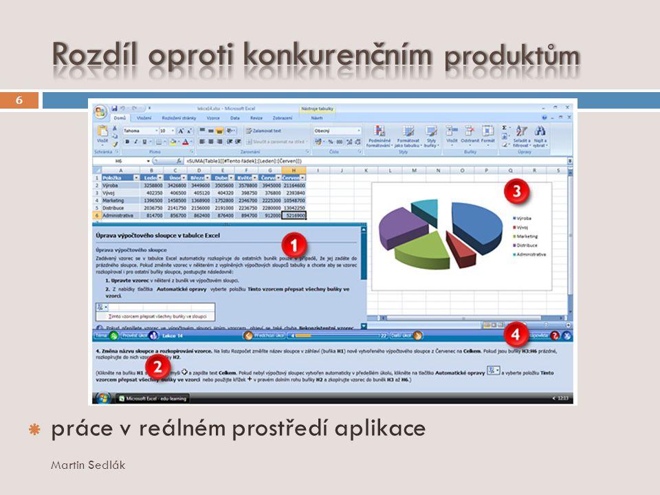  práce v reálném prostředí aplikace 6 Martin Sedlák