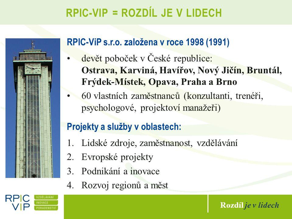 Rozdíl je v lidech RPIC-VIP = ROZDÍL JE V LIDECH RPIC-ViP s.r.o.