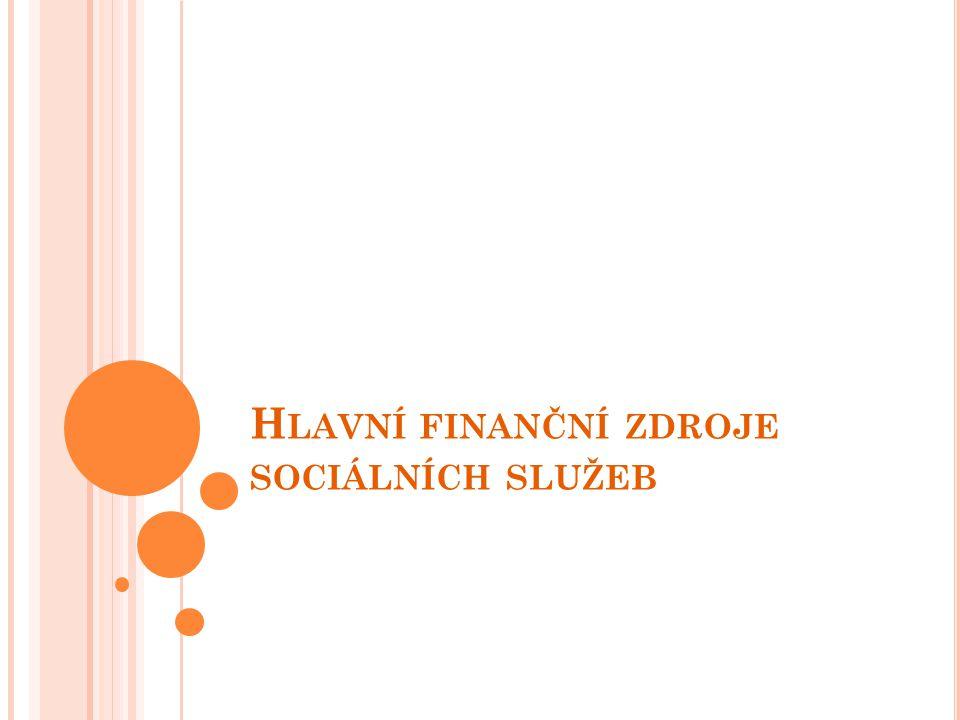 H LAVNÍ FINANČNÍ ZDROJE SOCIÁLNÍCH SLUŽEB