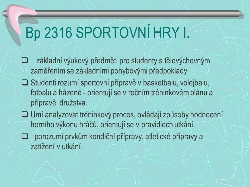 Bp 2316 SPORTOVNÍ HRY I.