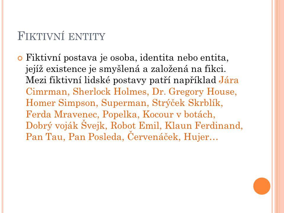 Fiktivní postava je osoba, identita nebo entita, jejíž existence je smyšlená a založená na fikci.