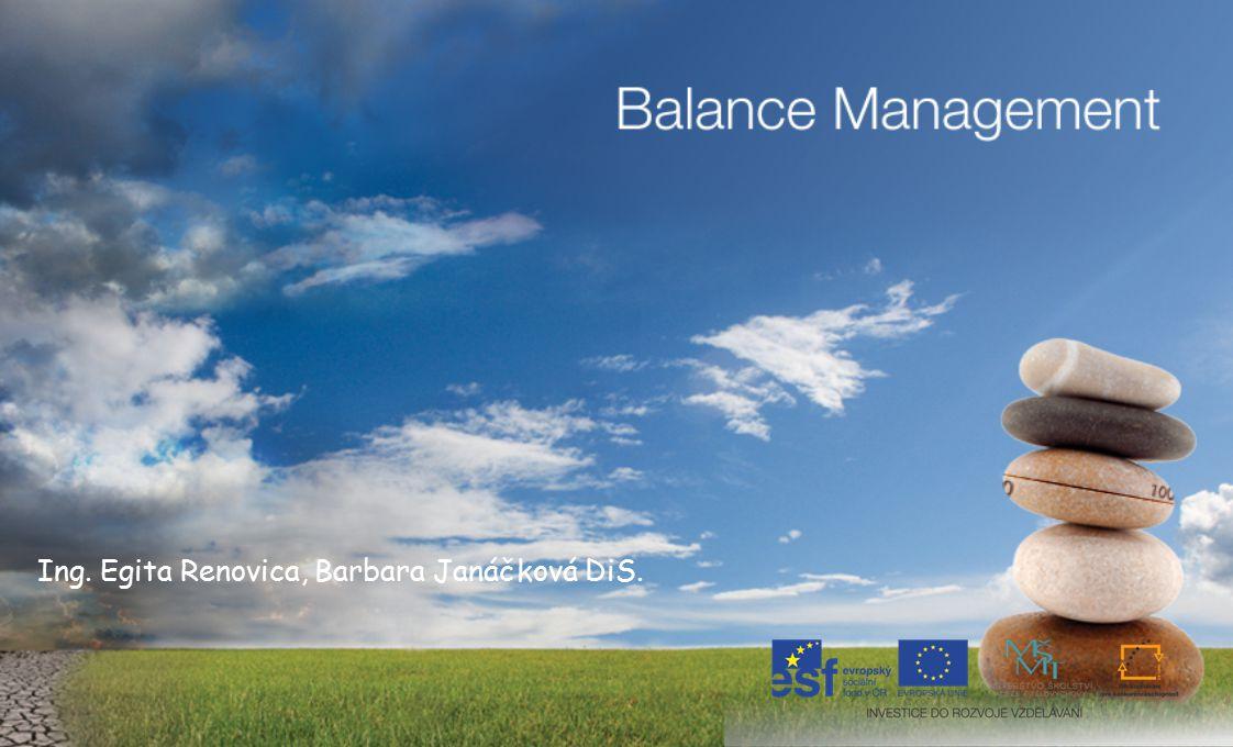 13 Balance Management tělo, emoce, rozum, vztahy … řídit a vest jednotlivce a skupiny s menší námahou a větší kontrolou… @ Balance Management 2012, www.balancemanagement.com
