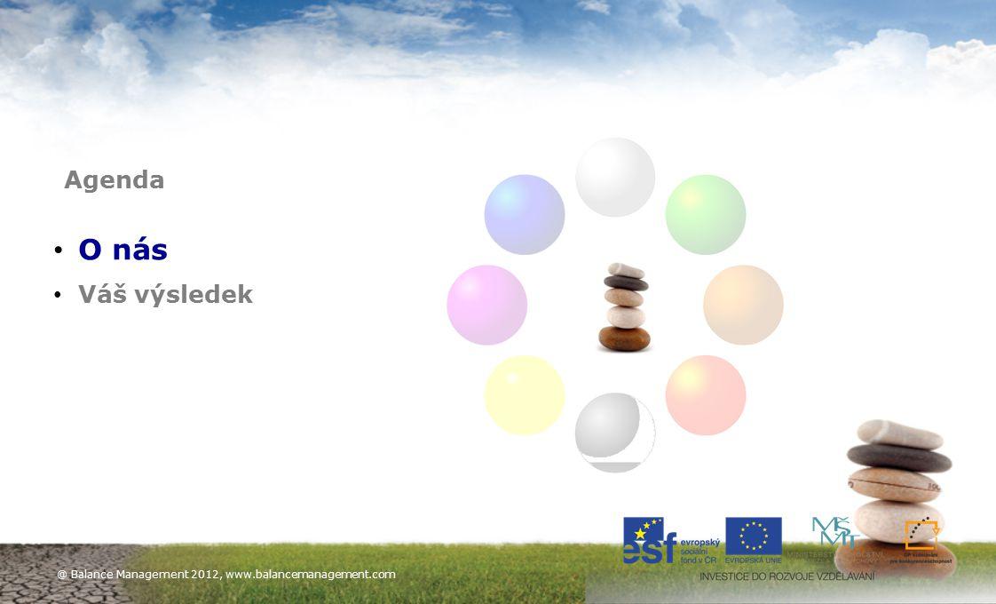 4 O nás Váš výsledek Agenda @ Balance Management 2012, www.balancemanagement.com