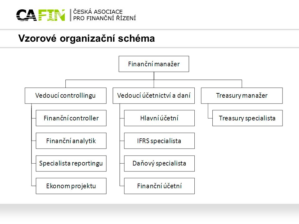 Vzorové organizační schéma