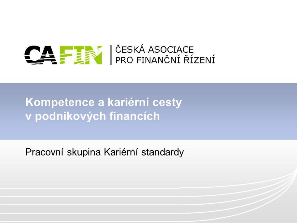 Kompetence a kariérní cesty v podnikových financích Pracovní skupina Kariérní standardy